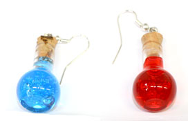 Health and mana potion bottles earrings