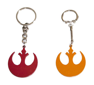 Star wars Jedi / rebel alliance rare metal keyring from the