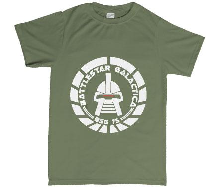 Battlestar Galactica circular CYLON design T shirt