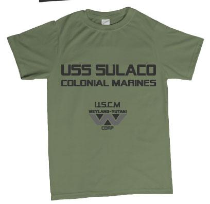 Aliens USCM USS Sulaco crew tshirt