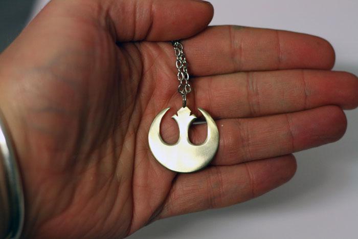 Star Wars Jedi rebellion logo. Cool geek chic necklace.