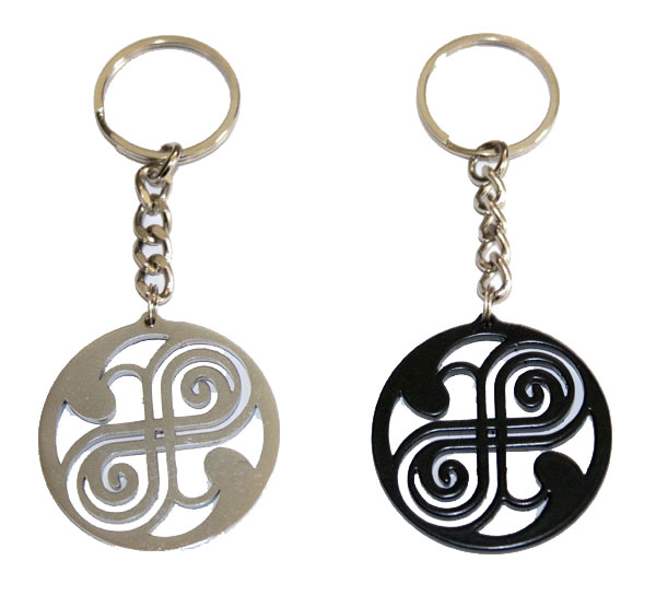 The seal of Rassilon DOCTOR WHO keyring very rare!